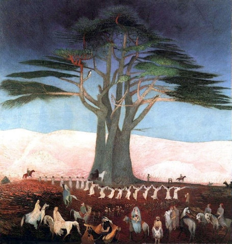 "Tivadar Csontváry Kosztka, ""Pilgrimage to the Cedars in Lebanon"" (1907)"